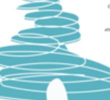 Blue Tea Hive Sticker