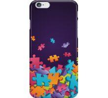 Dark Puzzle Pieces iPhone Case/Skin
