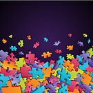Dark Puzzle Pieces by David & Kristine Masterson