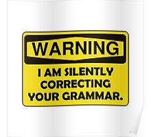 Warning Grammar Poster
