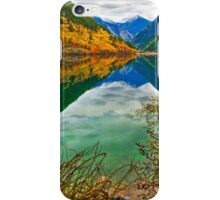 Autumn Reflection in Mirror Lake, Jiuzhaigou 2 iPhone Case/Skin