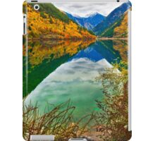 Autumn Reflection in Mirror Lake, Jiuzhaigou 2 iPad Case/Skin
