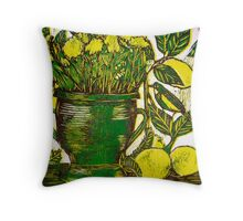 Mothers Day - Woodcut Throw Pillow