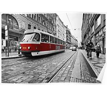 Prague Tram Poster