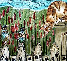 """Three Blind Birds 2 - Woodcut by Belinda """"BillyLee"""" NYE (Printmaker)"""