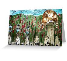 Three Blind Birds 2 - Woodcut Greeting Card