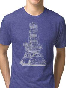 Stack Yo Rack ...white ink Tri-blend T-Shirt