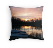 Lake at Sunset Throw Pillow