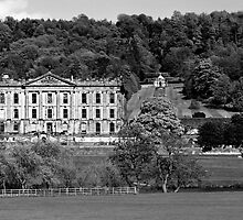 Chatsworth House (in mono).....by popular demand. by Lensman2008