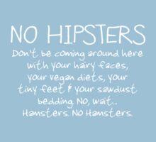 No Hipsters. Er... Hamsters. Kids Tee