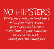 No Hipsters. Er... Hamsters. Kids Clothes