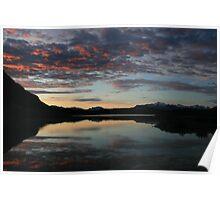 11:37pm, Sunset in Alaska Poster