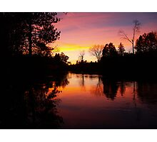 Sunset on the Manistee River Photographic Print