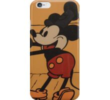 Disney Vintage Mickey Mouse Steamboat Willie COLOR iPhone Case/Skin