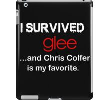 I survived glee...and Chris Colfer is my favorite. iPad Case/Skin