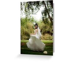 Dancing Bride Greeting Card