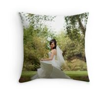 Dancing Bride Throw Pillow