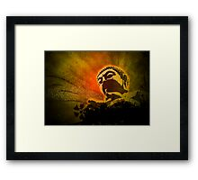 Buddha Bubbles Framed Print