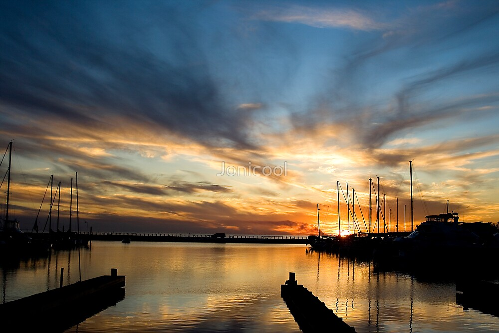 Long Beach Harbor Sunset by Jonicool