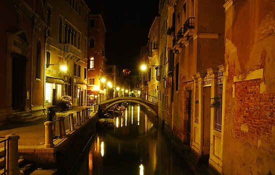 Venice at night by sketchie