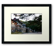Temple In the Forest Framed Print