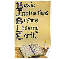 Meaning Of The Bible Poster
