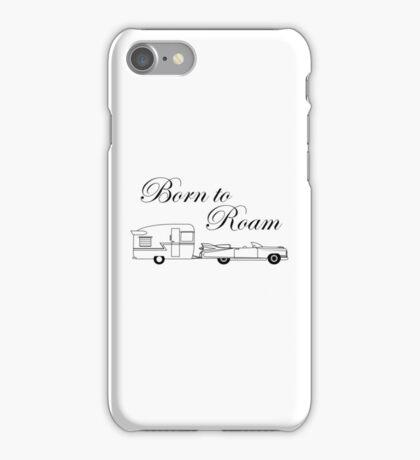 Born to Roam- Shasta & Caddy in Black iPhone Case/Skin