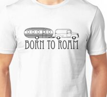Born to Roam- 1940's Panel Van & Airfloat in Black Unisex T-Shirt