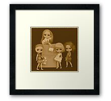 blythes and the city (sepia version) Framed Print