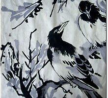 Korean/Chinese brush painting study 1 by James  Guinnevan Seymour