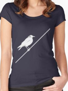 Bird on Wire Women's Fitted Scoop T-Shirt