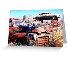 Martin's Auto Salvage Greeting Card
