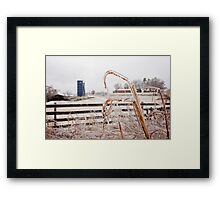 Frozen Farm Framed Print