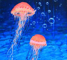Two Jellyfish by John Wallie