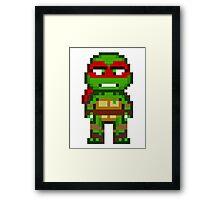 Raph TMNT 2012 Mini Pixel Framed Print