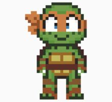 Mikey TMNT 2012 Mini Pixel by geekmythology