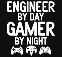 Engineer by Day Gamer by Night T-Shirt