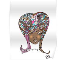 Lady Chocolat Feminine Illustration  Poster