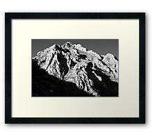 Unnamed Peak, McGee Canyon Framed Print