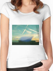 Space illumination Women's Fitted Scoop T-Shirt