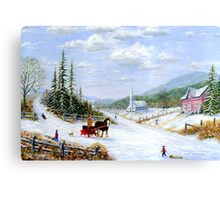 Sleigh Time Canvas Print