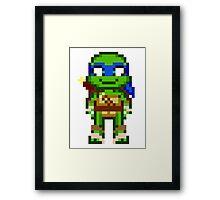 Leo TMNT 2012 Mini Pixel Framed Print