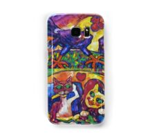 Cocky Rooster And Cat Romance Samsung Galaxy Case/Skin