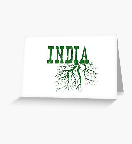 India Roots Greeting Card