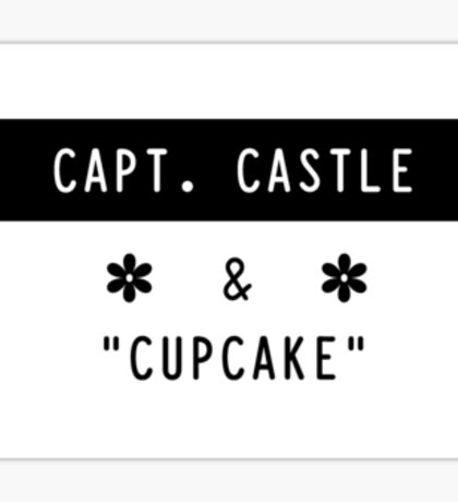 Capt. Castle & Cupcake Sticker