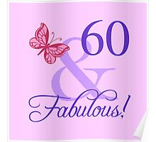 Fabulous 60th Birthday For Her Poster