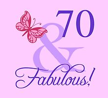 Fabulous 70th Birthday For Her by thepixelgarden