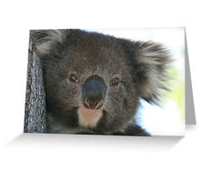 Face Off Greeting Card