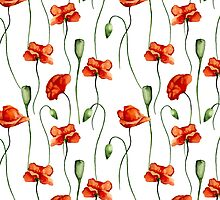 Poppies pattern by JuliaBadeeva