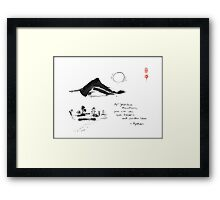 Yahiko Mountain Framed Print